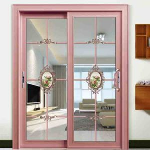 China Best Aluminium Double Glazing Front Doors French With Tempered Gl