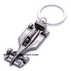 Promotion Custom F1 Car Shape Gift Metal Keyring (BK11148) pictures & photos
