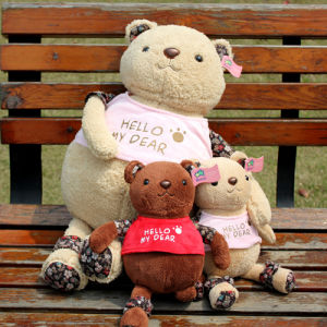 Plush and Stuffed Toy Bear Doll for Children/Girls′ Gifts, 32cm, 2PCS/Lot