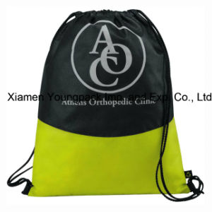Custom Logo Printed Non-Woven Drawstring Cinch Backpack Bag pictures & photos