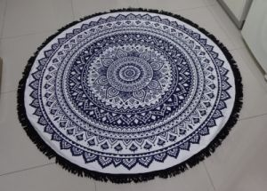 Hot Sale Microfiber Custom Print Round Beach Towel pictures & photos