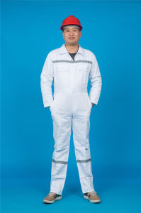 65% Polyester 35%Cotton Long Sleeve Safety Workwear Coverall with Reflective (BLY1021) pictures & photos