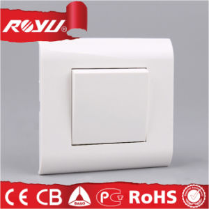 Fire Resistant 1 Gang Button Mosaic Series Switch pictures & photos