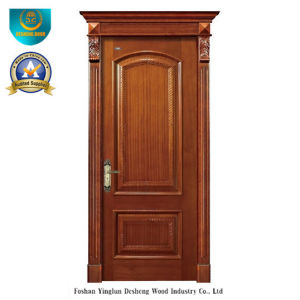 Simplified European Style Solid Wood Door for Interior with Carving (ds-8037) pictures & photos