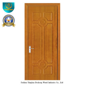 Chinese Style HDF Door for Entrance with Brown Color (ds-098) pictures & photos