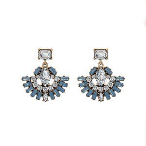 Fashion Imitation Jewelry Art Deco Women Korean Crystal Stud Earrings