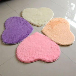 SGS Microfiber Silk Wool Heart-Shaped Flooring Mat Door Carpet