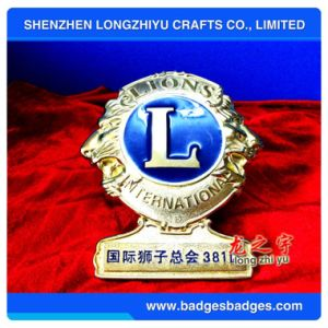 Metal Gold Lions Club Car Emblem Bronze Label Commemorative Emblem pictures & photos