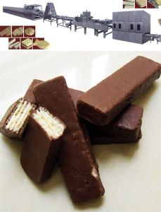 Gas Type Chocolate Cream Wafer Biscuit Machine pictures & photos
