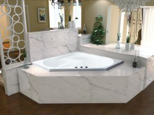 Diamond Corner Bathtub Simple Drop In B 639