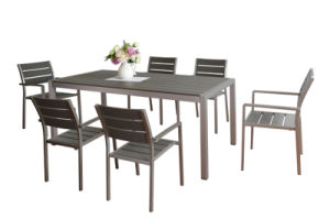 Garden Furniture Modern Plastic Wood Dining Set (ST-07002) pictures & photos