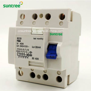 4p 40A 30mA Residual Current Circuit Breaker pictures & photos