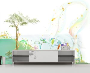 Personalized Eco-Solvent Wallpaper pictures & photos