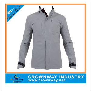 Mens Lightweight Waterproof Rain Jacket with Hood and Zip pictures & photos
