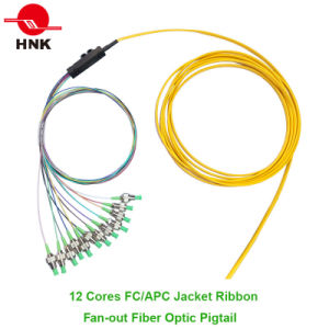 Jacket Ribbon Fan-out Fiber Optic Pigtail pictures & photos