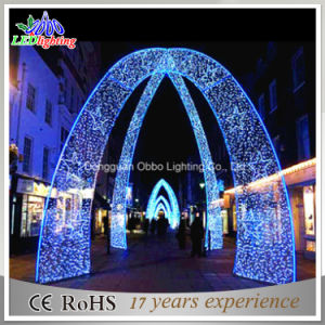 blue christmas light led lights arch lights