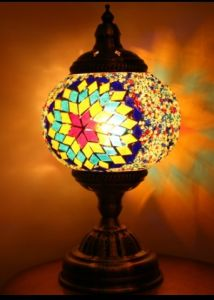 Aladdin Handmade Mosaic Art Turkish LED Table Lamps