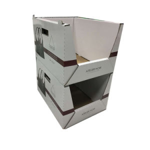 Custom Made Corrugated Display Stander PDQ Box for Office Appliance
