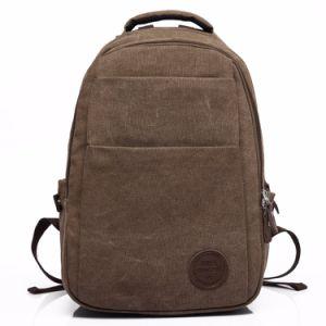 Men S Canvas Genuine Leather Crossbody Laptop Messenger Shoulder Satchel Bag