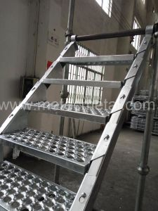 HDG Cuplock Scaffold Stair for Building pictures & photos