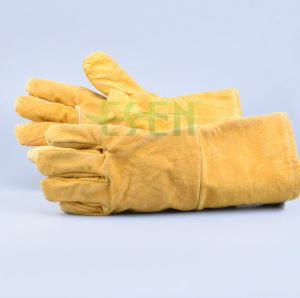 Safety Welding Heat and Cut Resistance Leather Working Glove pictures & photos