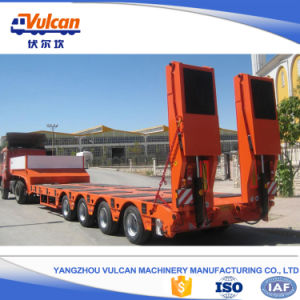 Hot Sale 4 Axle 60 Tons Low Loader Semi Trailer