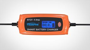 6V/12V 4A LCD Screen Smart Battery Charger for Lead Acid Battery