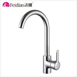 Simple Design Good Quality Chrome Plated Brass Single Handle Kitchen Faucet