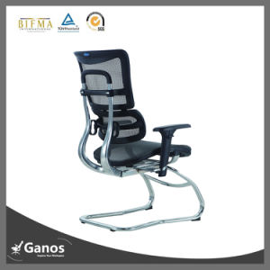 Low Price Hot Alumilum Base Mesh Office Chair Without Wheels