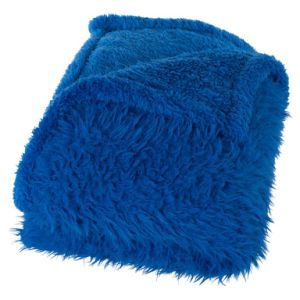 BSCI Audited Factory 2 Side Brushed Sherpa Fleece Blanket with 2 Layer