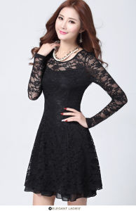 2016 Fashion Design Woven MID-Waisted Lace Ladies Dress for Summer pictures & photos