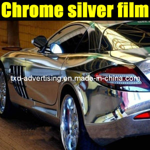 Chrome Mirror Silver Car Color Change Vinyl Film