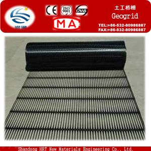 Railway High Tensile Polyester Geogrid 80/80 Kn/M