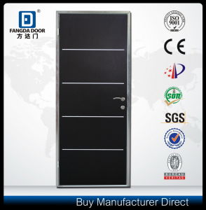 Modern Commercial Steel Interior Insulated Door with Decorative Aluminum Strips pictures & photos