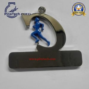 Novel Special Design Medal for Running Sports with Gunmetal Finish