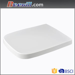 Premium Square White UF Toilet Seat with Wrap Over Design
