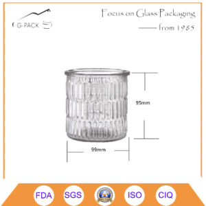 Decorated Glass Jar for Candle Holder Purpose pictures & photos