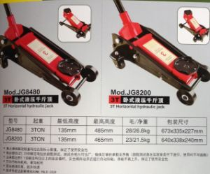 Jg8201 Horizontal Hydraulic Jack pictures & photos