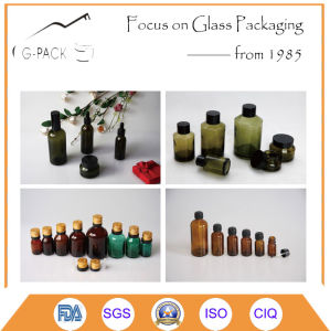 15g Glass Cosmetic Jar with Aluminum Cap pictures & photos