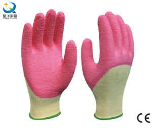 Latex 3/4 Coated, Crinkle Finish Work Glove pictures & photos