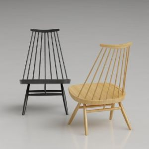 Mademoiselle Lounge Wooden Chair
