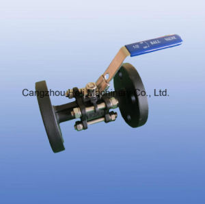 Pn40 3PC Stainless Steel Flange Ball Valve pictures & photos