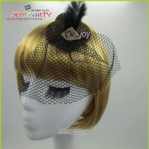 Grey Hair Accessories Lady Mini Hat