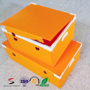 Plastic Corrugated Boxes Stacking Tote PP Stackable Container pictures & photos