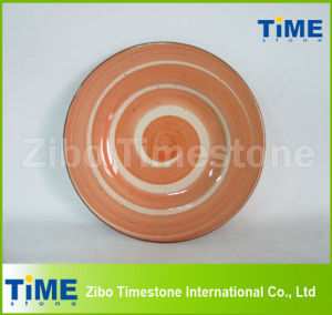 Hand Wash Custom Logo Ceramic Plates Dishes pictures & photos