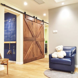 Wood Barn Sliding Door Hardware (LS-SDU-1003)
