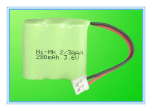 3.6V 280mAh Ni-MH AAA Battery Pack