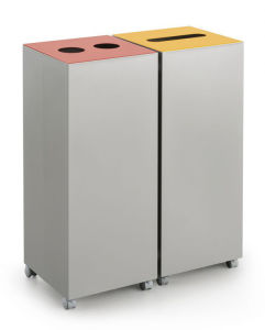 Uispair 100% Steel Square Large Capacity Dustbin for Office Home Hotel Decoration