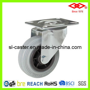 200mm Swivel Plate Grey Rubber Caster Wheel (P102-32D200X50) pictures & photos