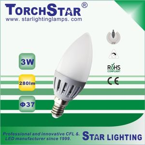 High Transmission SMD 3W E14 C37 LED Bulb